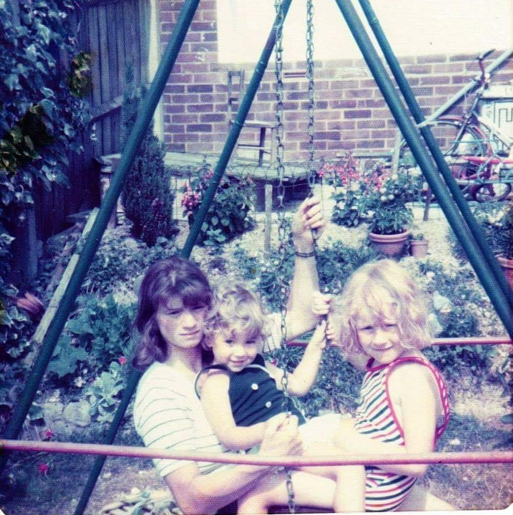 Marion with daughters Gillian and Allison