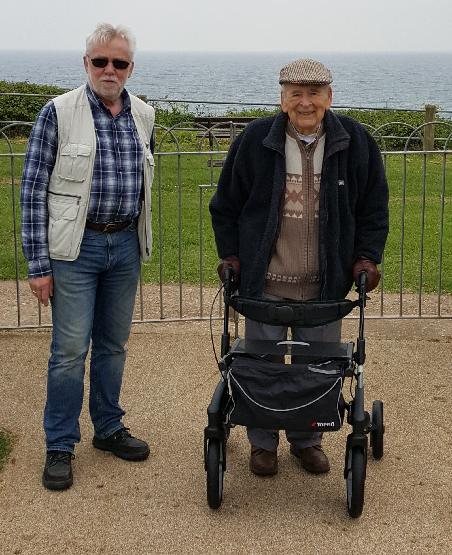 Dad and Ken walking in the park