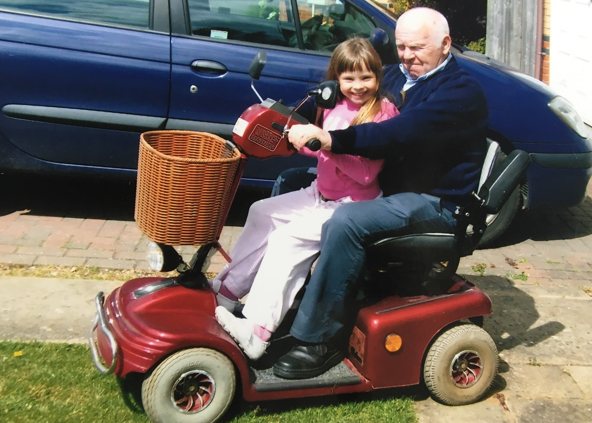 Out on the buggy in Morton Close Ely