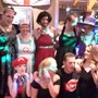 All the fancy dress people. 3rd June fund raiser for David & CF.