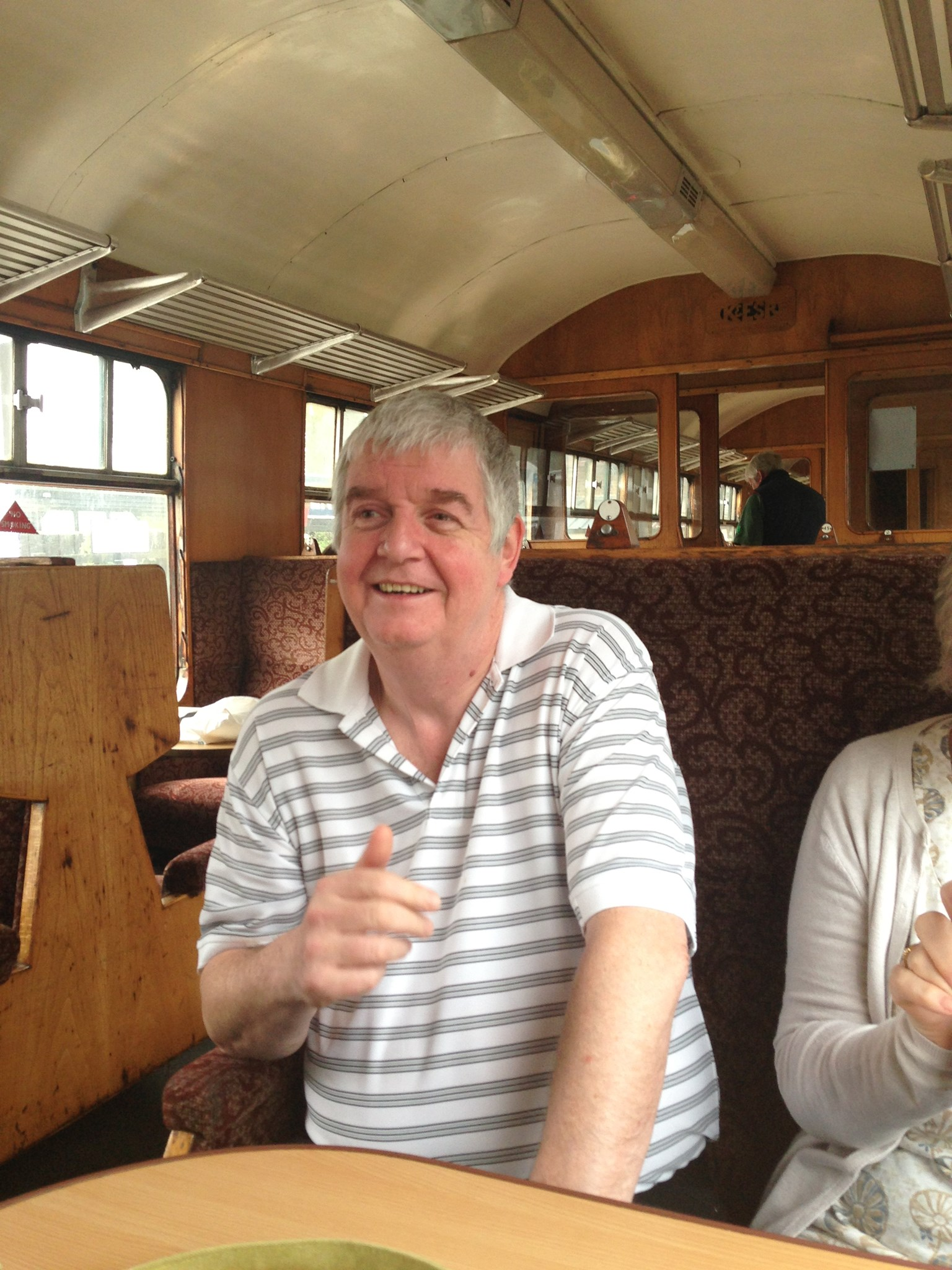 Happy to be on a steam train! Thanks for being our friend!