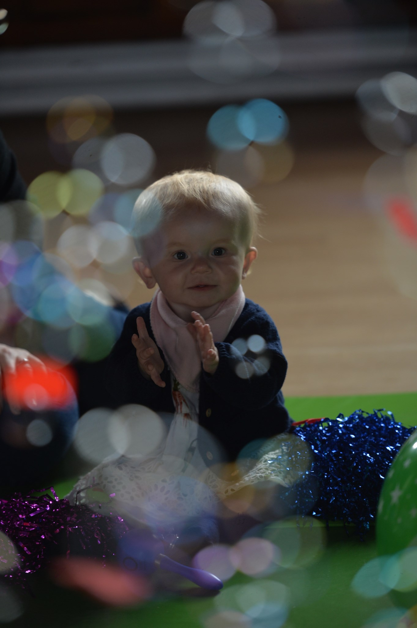 Beautiful Violet loved bubbles