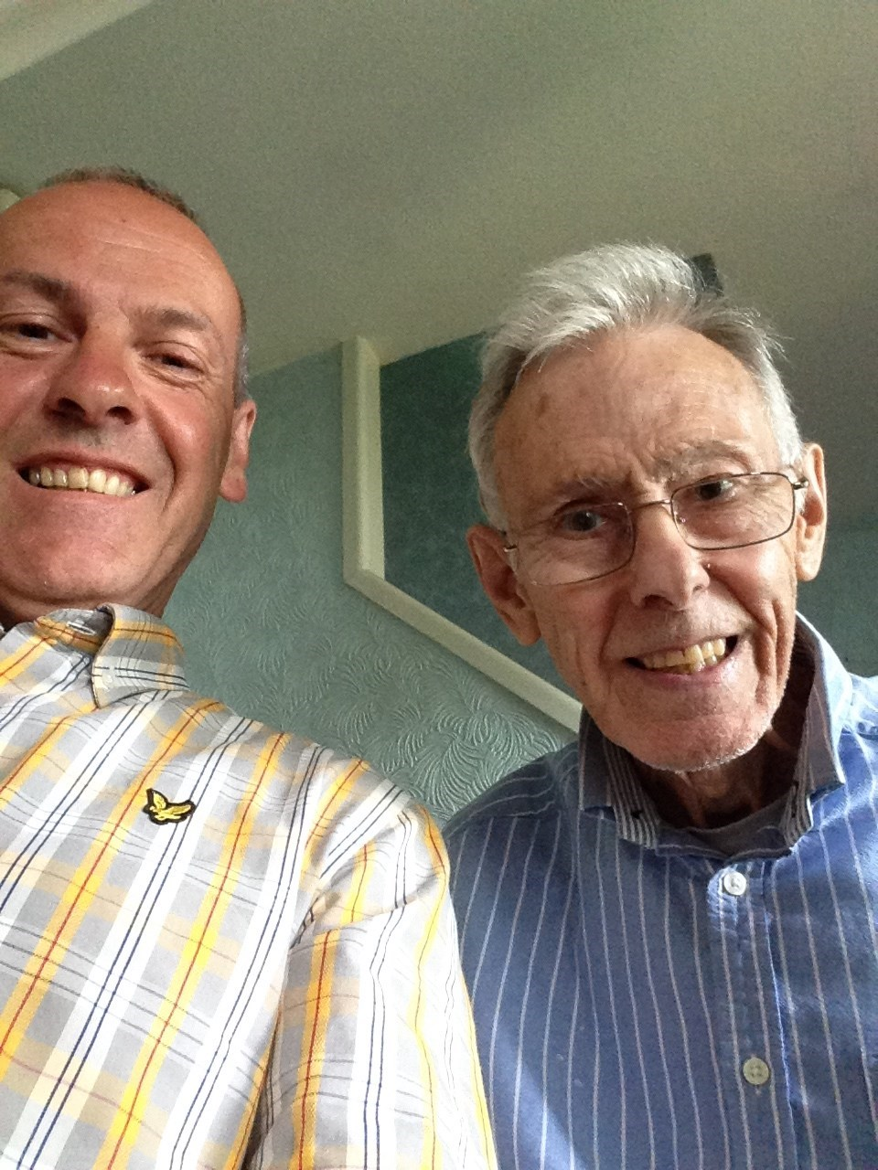 'Selfie' with my Smiling Dad on one of his good days.. x x