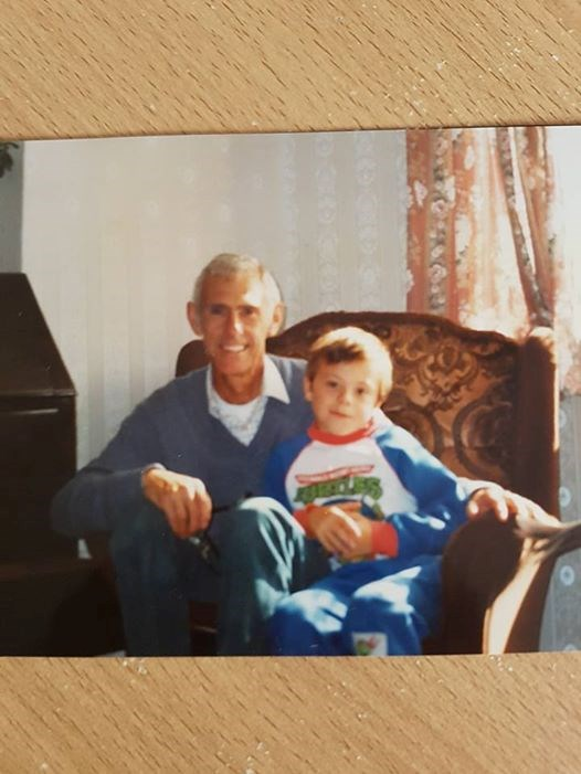 Me and Grandad back in the day xx