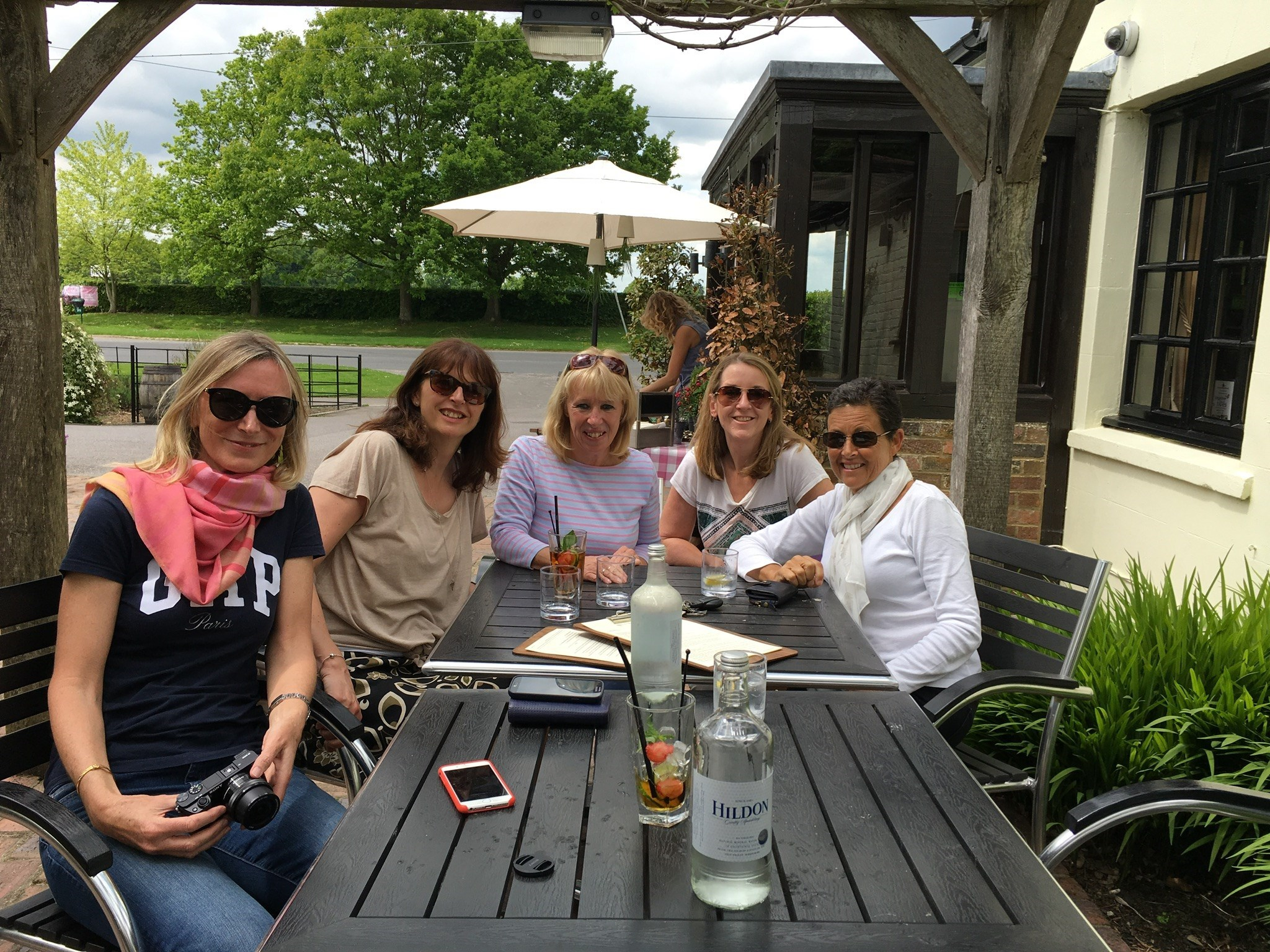 Just catching up with the usual amount of laughter - Sheenagh, Caroline, Sandie, Wiz and Piglet x