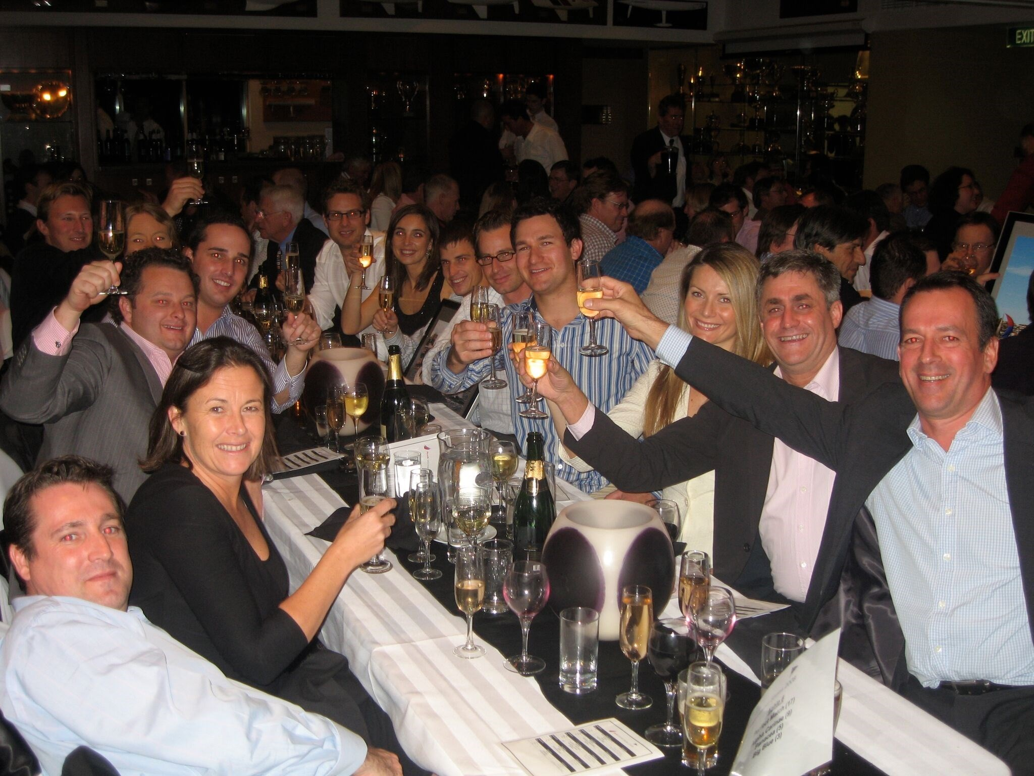 Quiet night out at a CYCA dinner!