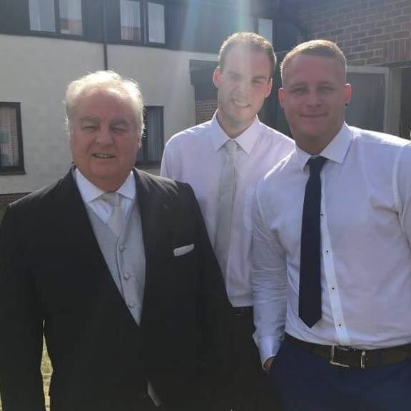 grandad with Danny and Dean at alyssas wedding xx