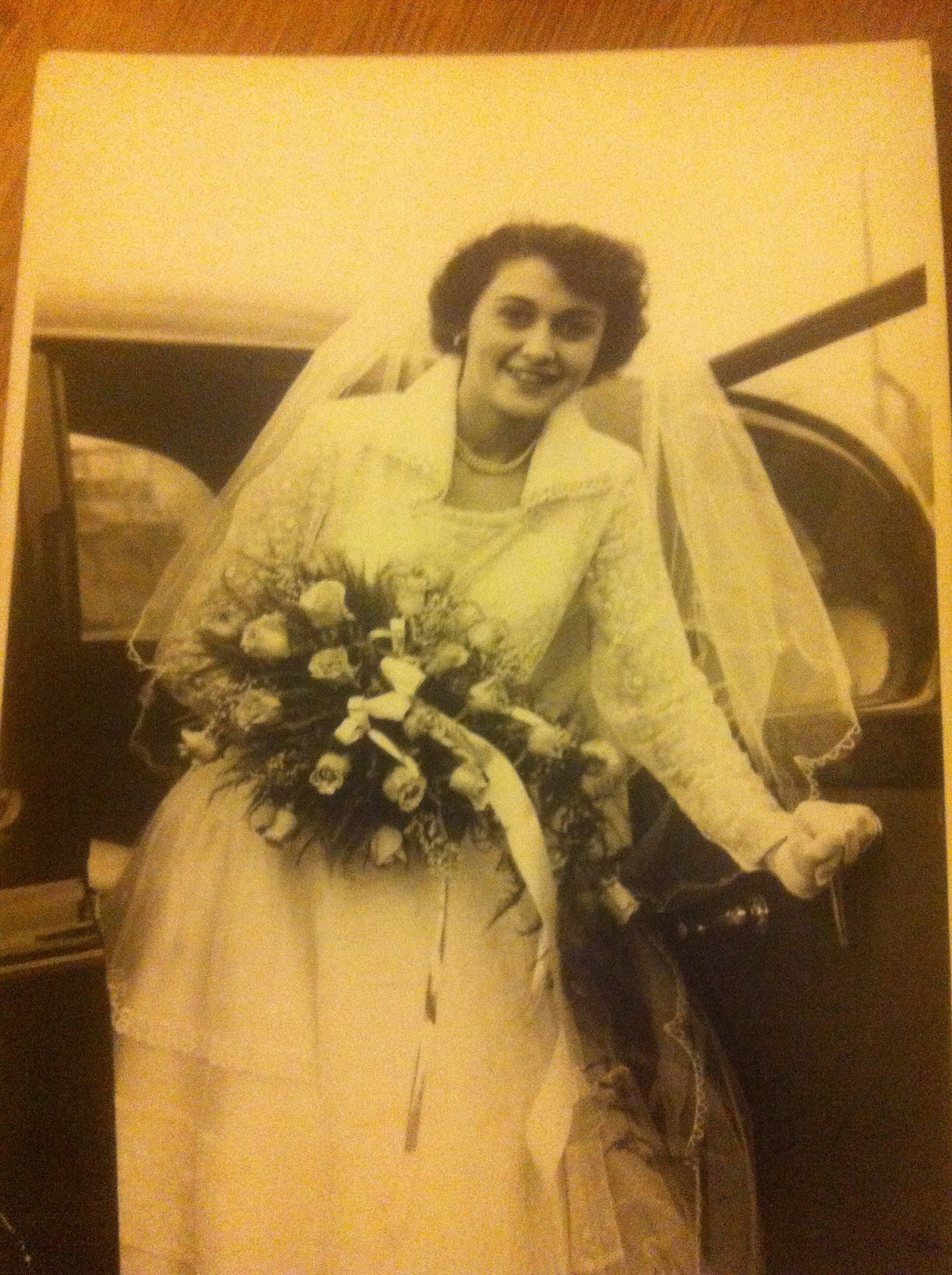 A beautiful bride Auntie Joyce xx