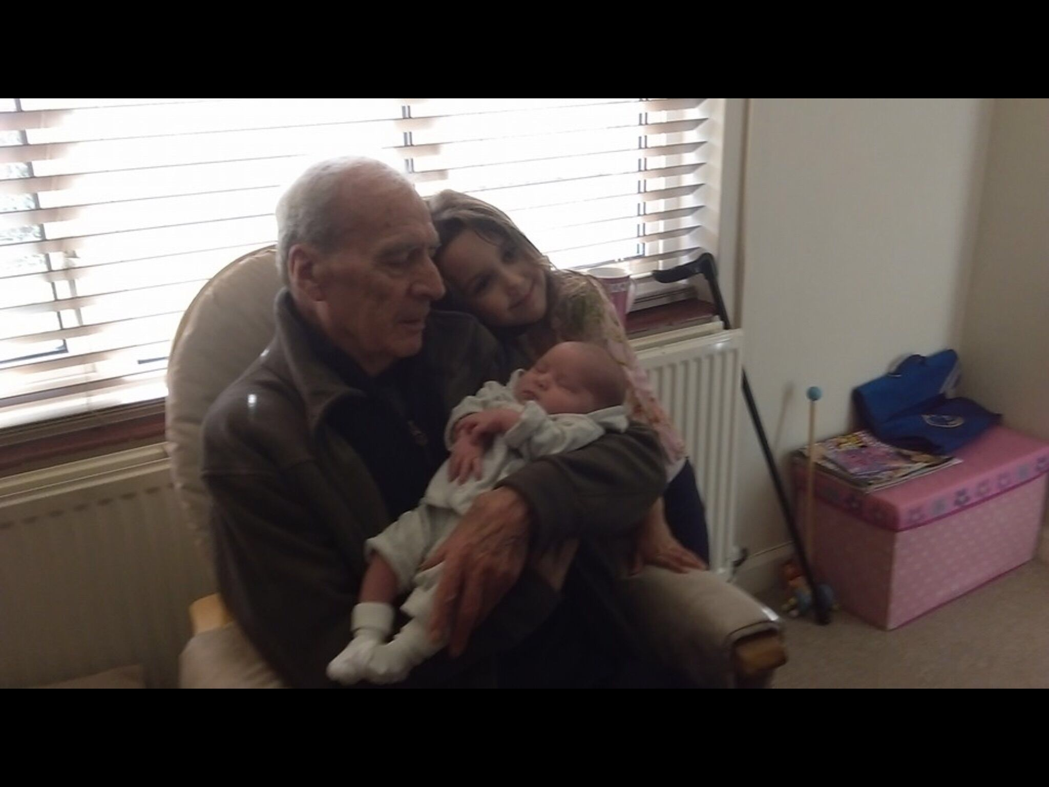 With youngest Grandchildren Olivia and Lara