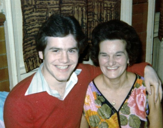 Mike and Mum 1976