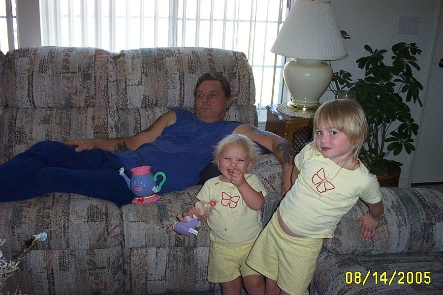 Great Uncle Rob, with Keightlyn and Karly.