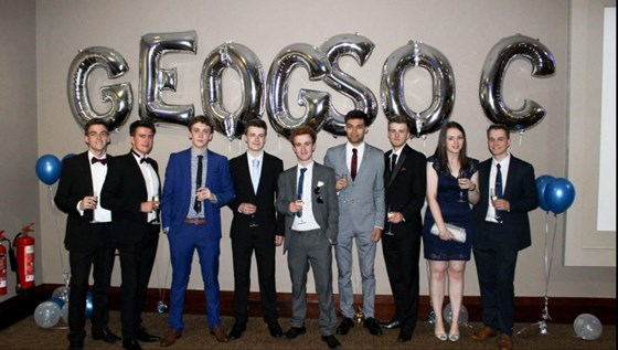 Final year geography ball marking the end of uni
