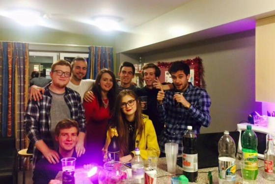 First year of uni night out