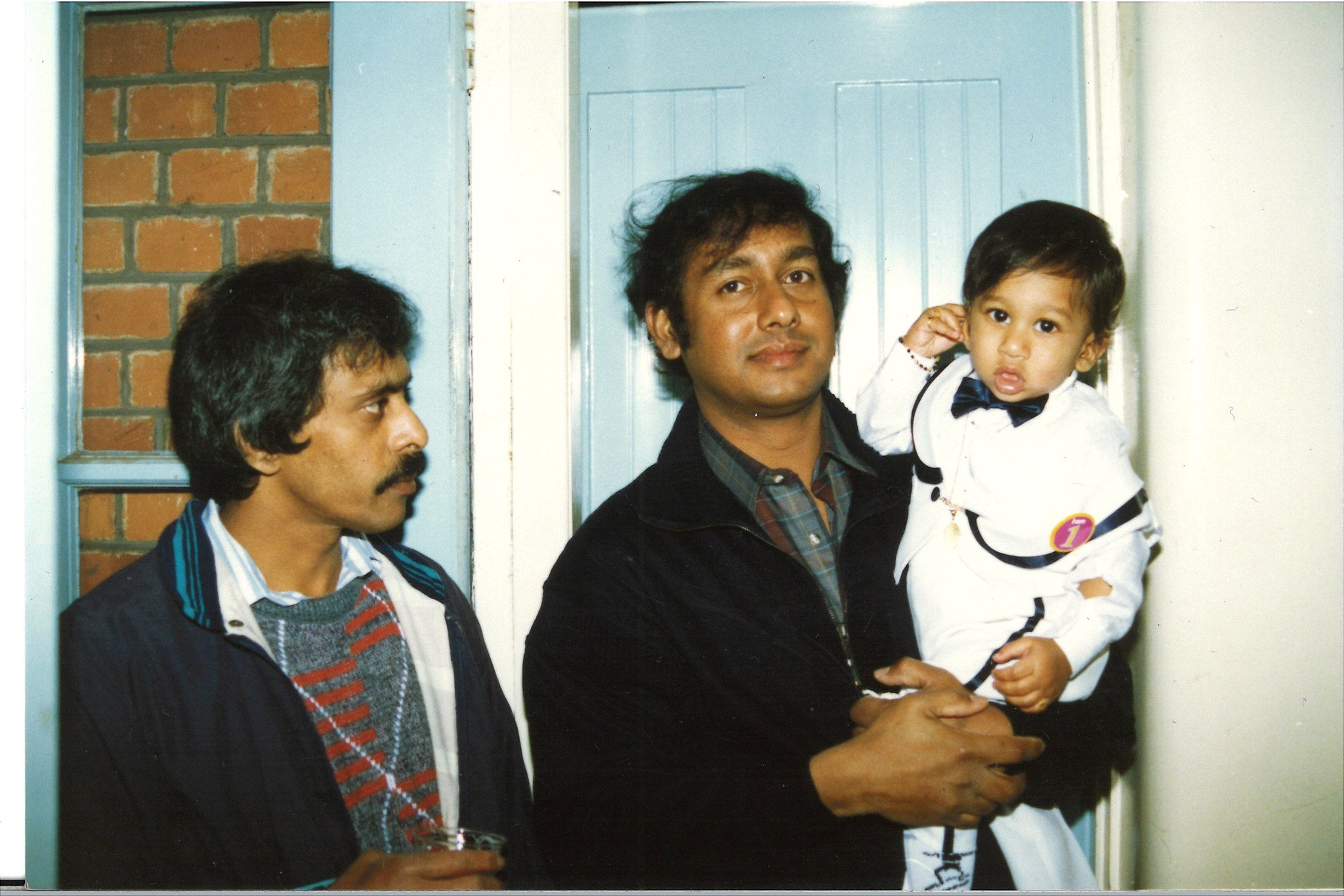 Uncle Nihal, with his nephew and Godson Gerard