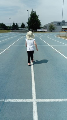 Running at Stoke Mandeville Stadium