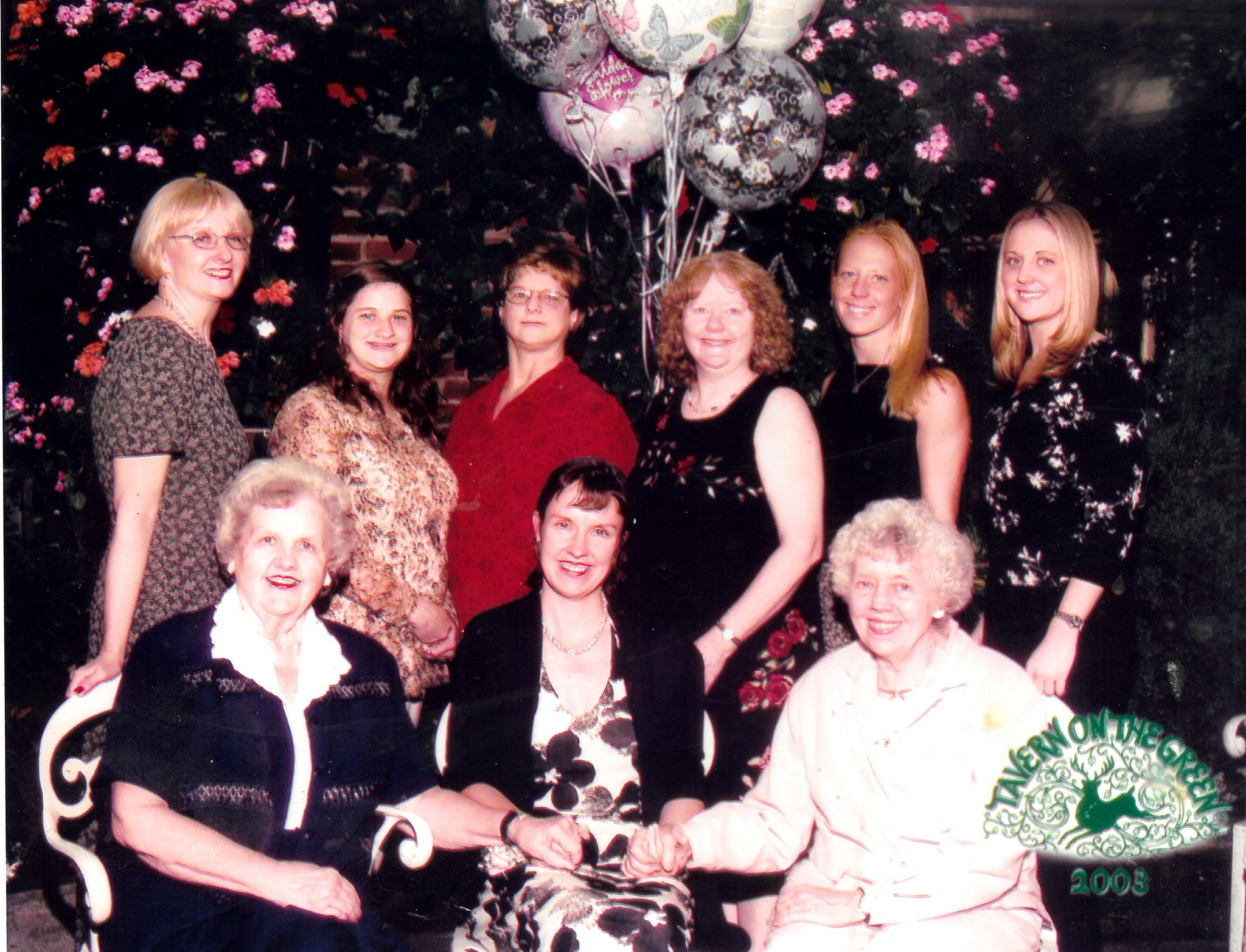 Family at Marjorie Coeyman Kehe's engagement party - Summer 2003