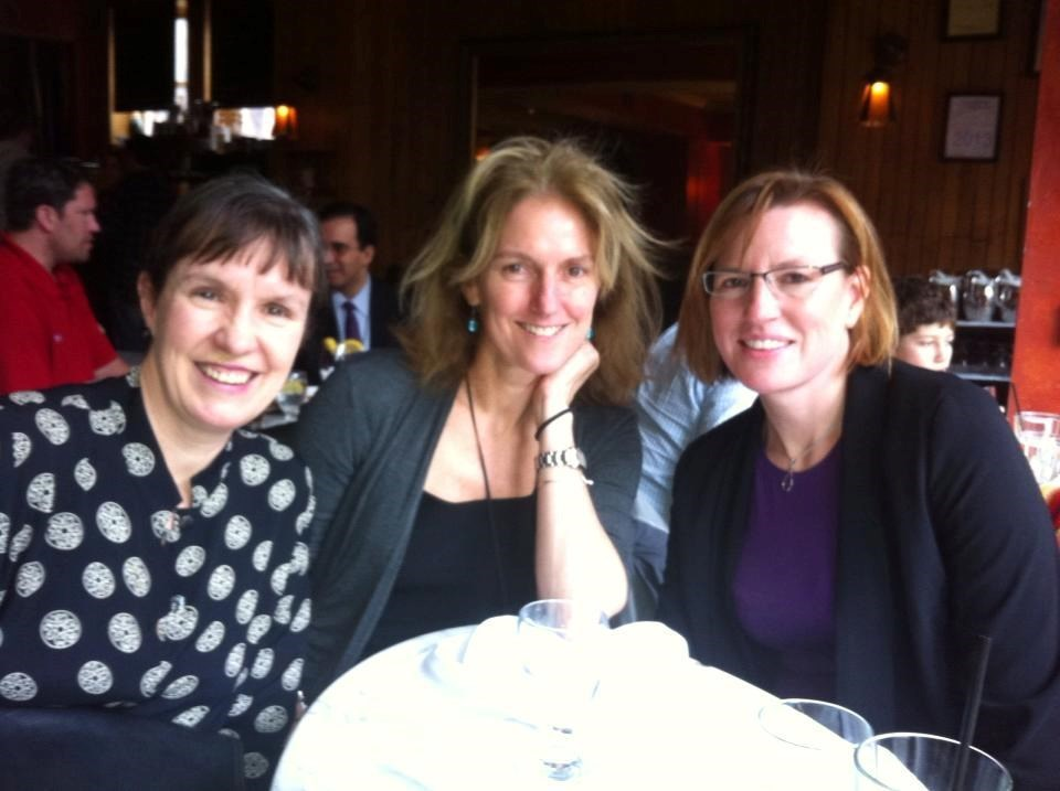 Marjorie, Melanie and Lisa catch up over lunch at Sonsie on Newbury Street in 2013.