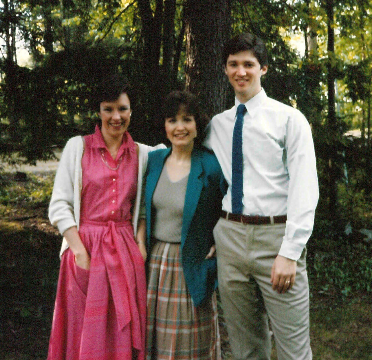 Marjorie with Heather and Steve, mid-1980s