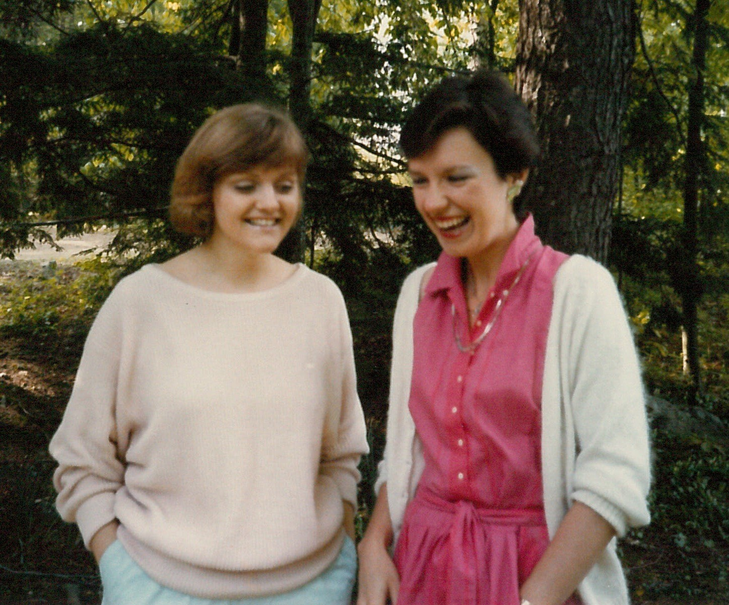Marjorie and Lisa, 1980s - nobody laughed like Marjorie!