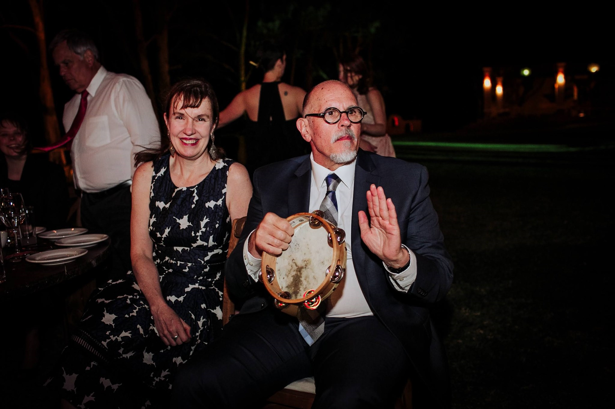 Marjorie and John at Spence and Ximena's wedding