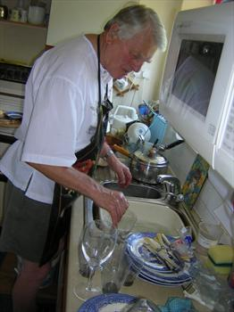 Always first to do the dishes