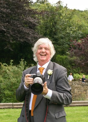 Richard in his element, at Robert & Jessica's wedding, 2012