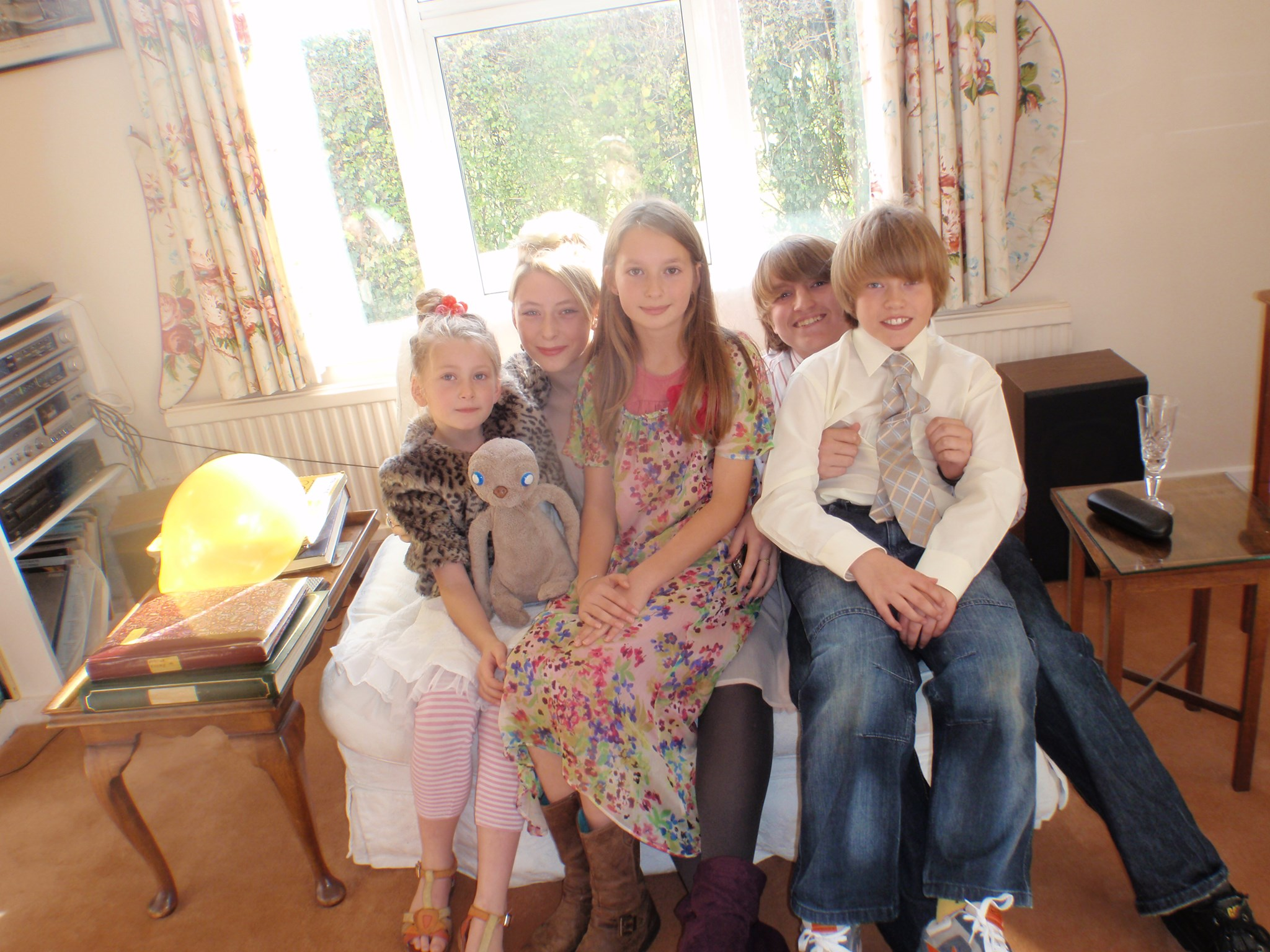 With Pierce cousins Cosy, Tess and Ruby (left to right)