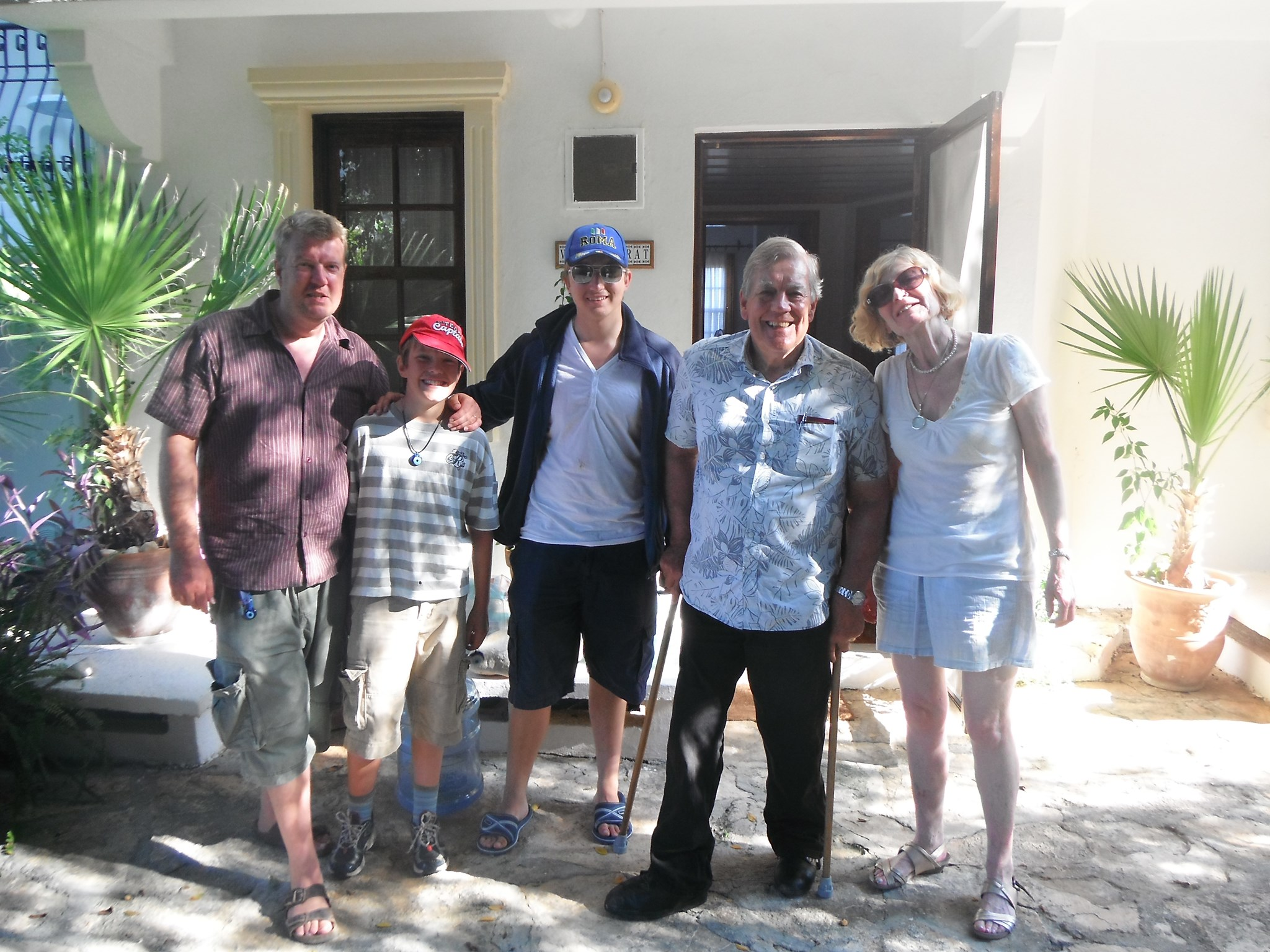 In Turkey with Murdin grandparents Paul and Lesley