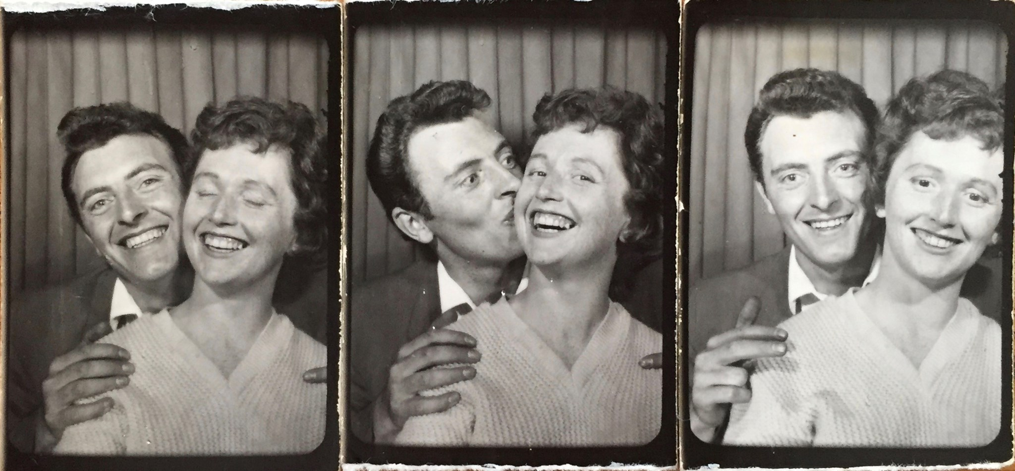 A photo booth in Margate in the late '50's...