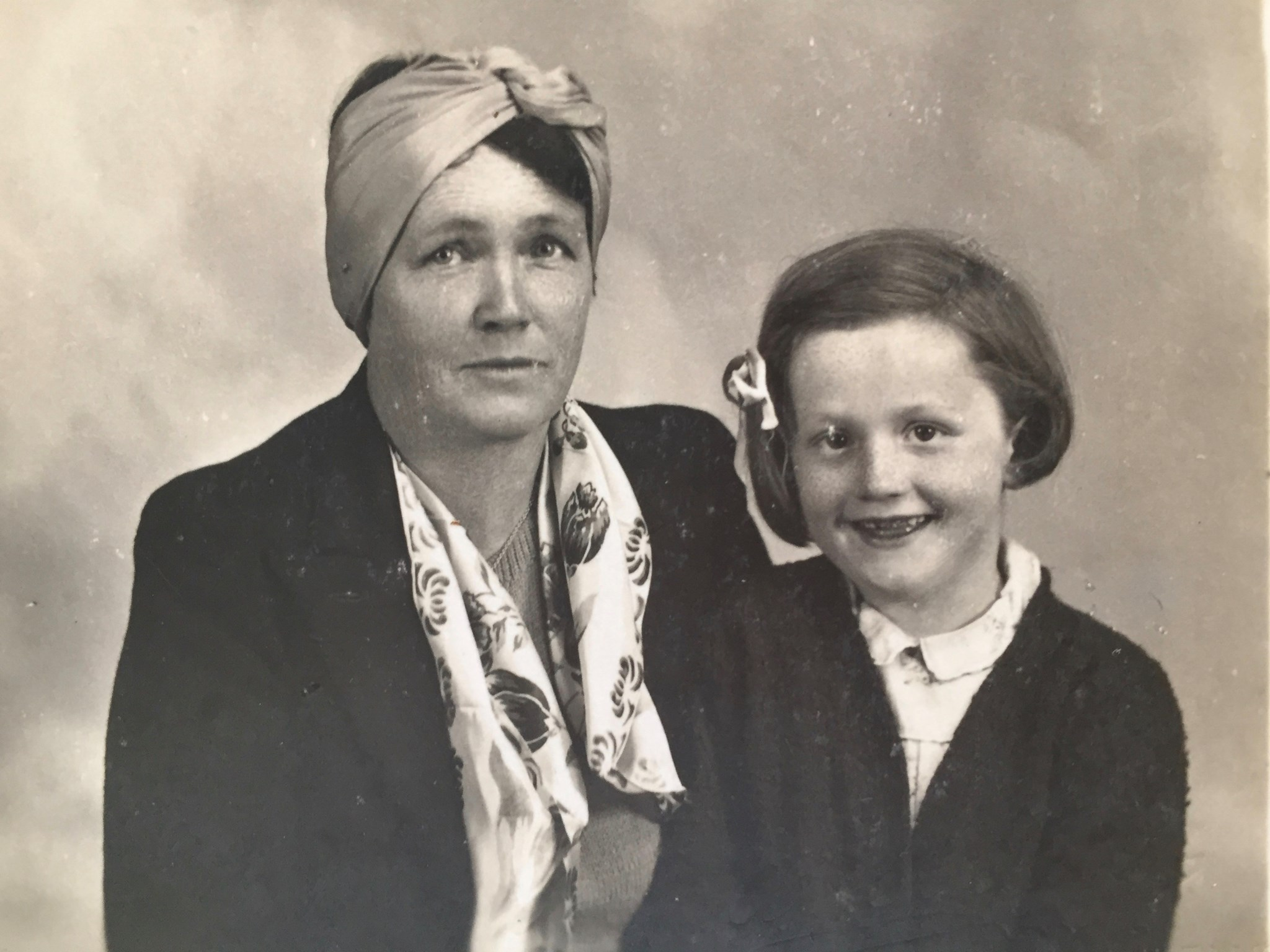 With her Mum Rose early '40's