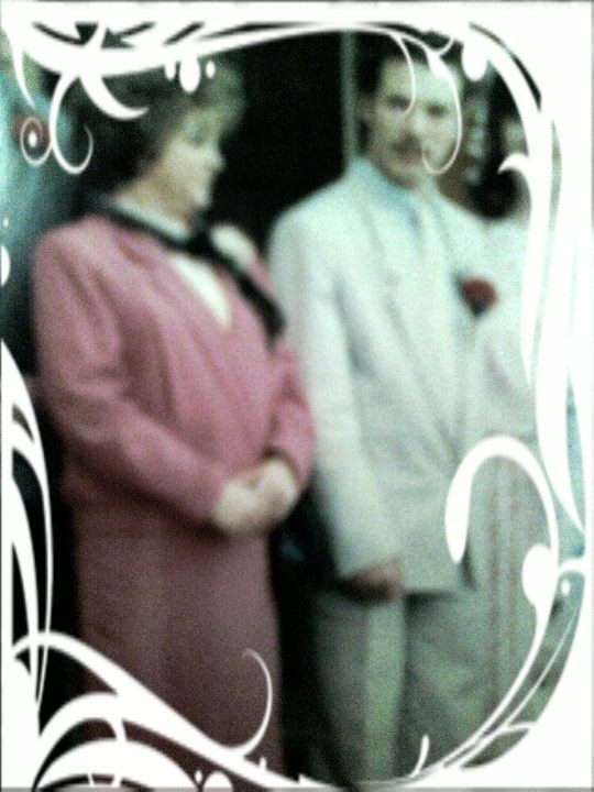 me and mom at my wedding (the only picture I have of her)