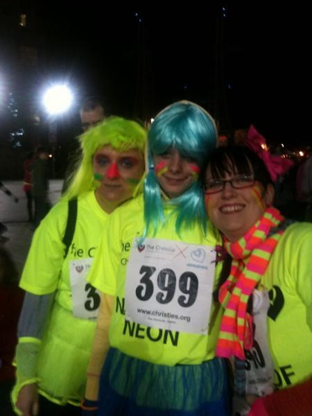 raising money at the night of neon