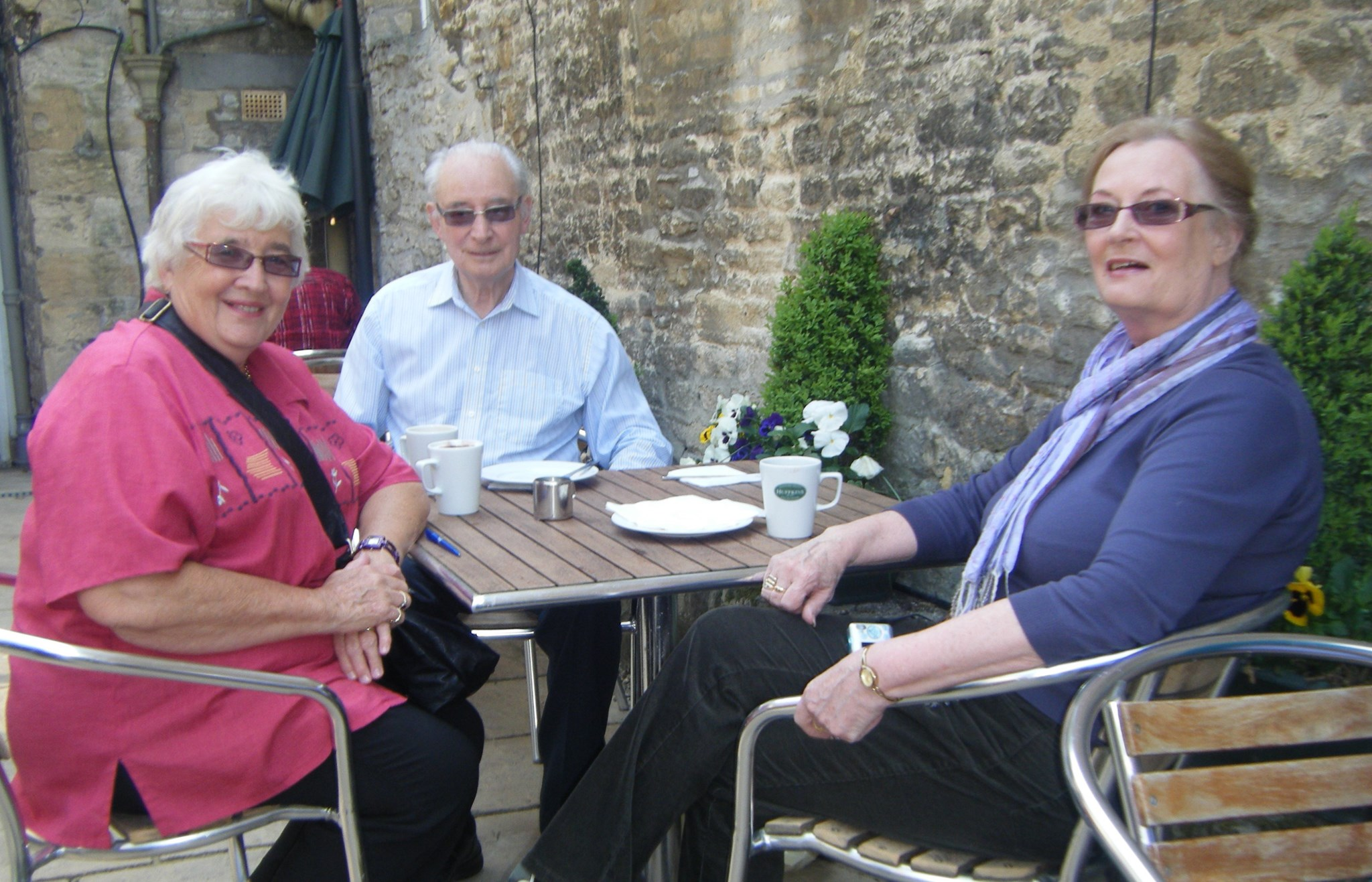 Vernie, Doug and Jill - happy time in the Cotswolds