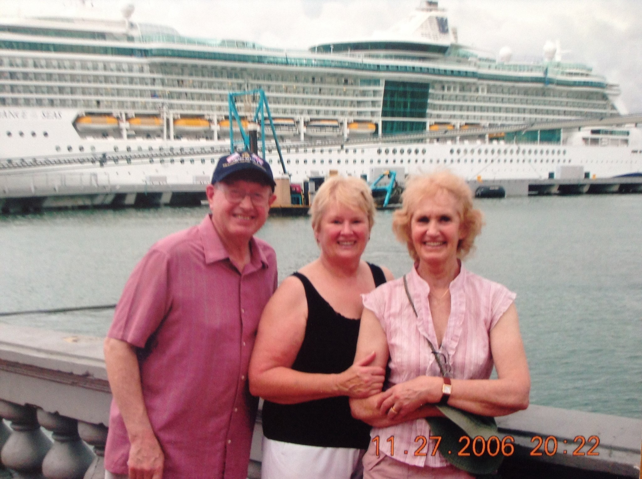 June , David & Joan on one of our lovely cruises .