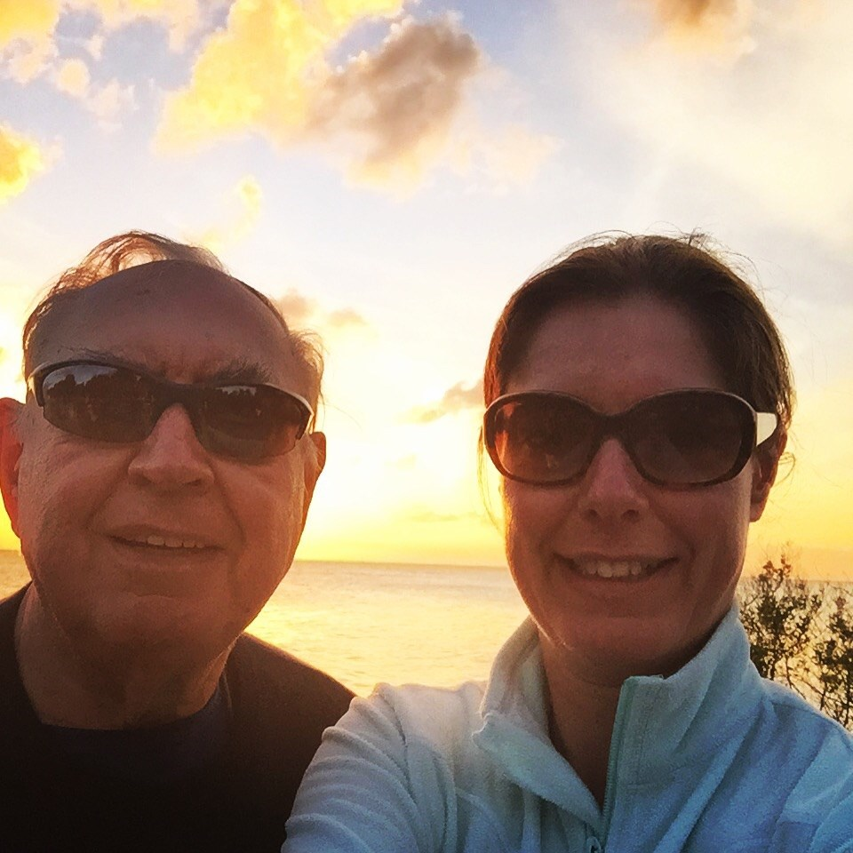 Sunset selfie with my Dad 2015