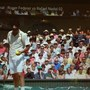 Wimbledon 2002 - Dad loved Wimbledon. You can see him top row - 4th in from Fed.