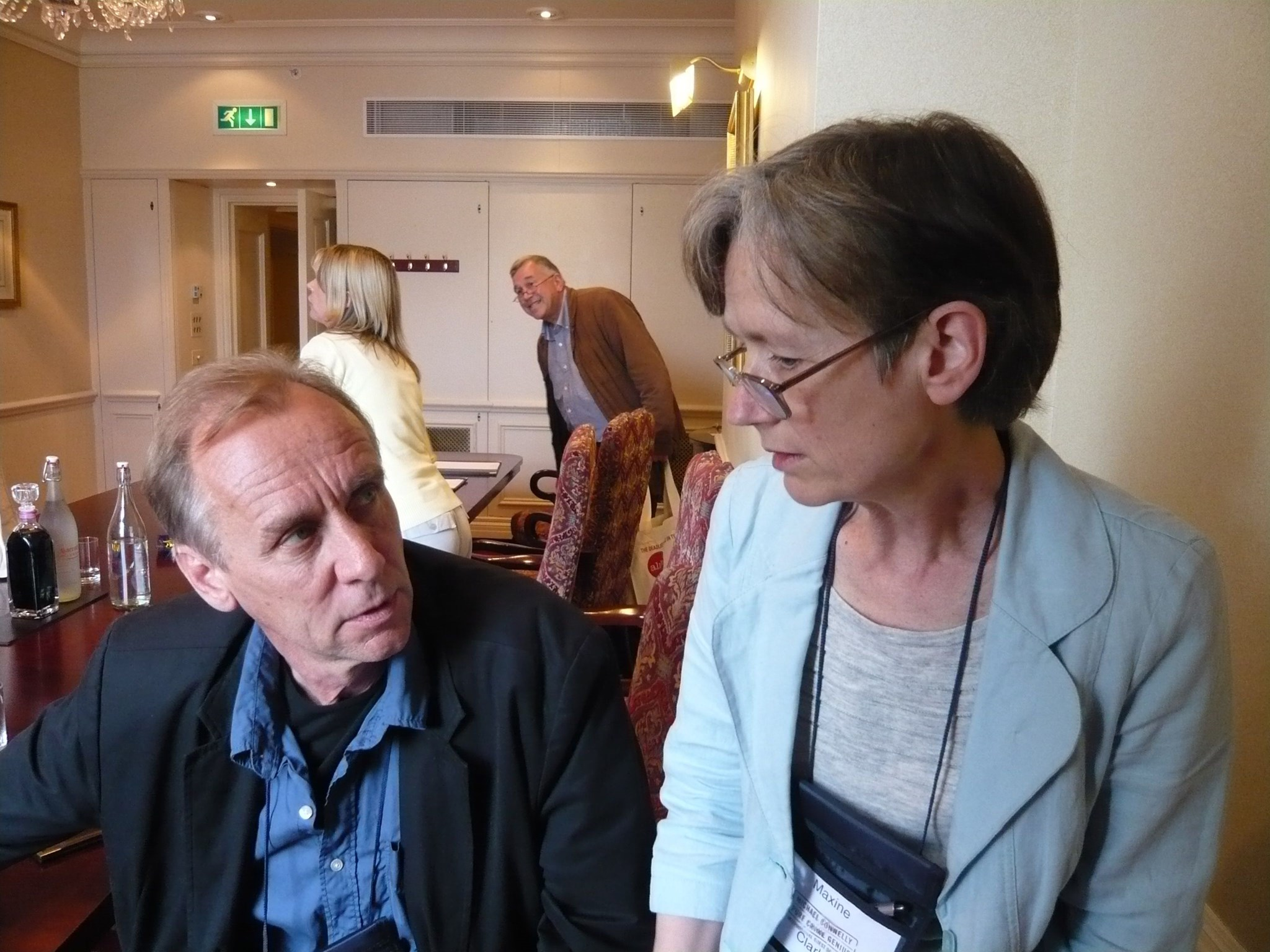 Maxine with crime writer Hakan Nesser at Crime Fest