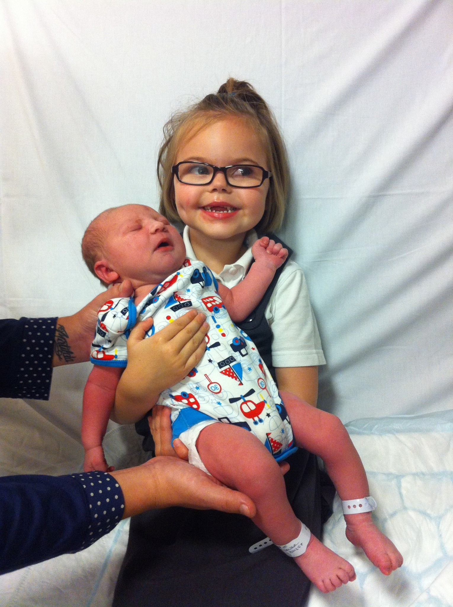 Our 1st picture of Henry with his big sister Tilly 25/10/2012