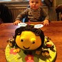 """Henry's 1st birthday. He loved """"The Hive"""" so we had a Buzzbee cake made by friend Mandy."""