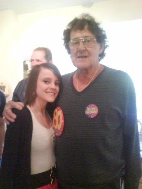 Jemma and gramp on gramps 80th birthday x