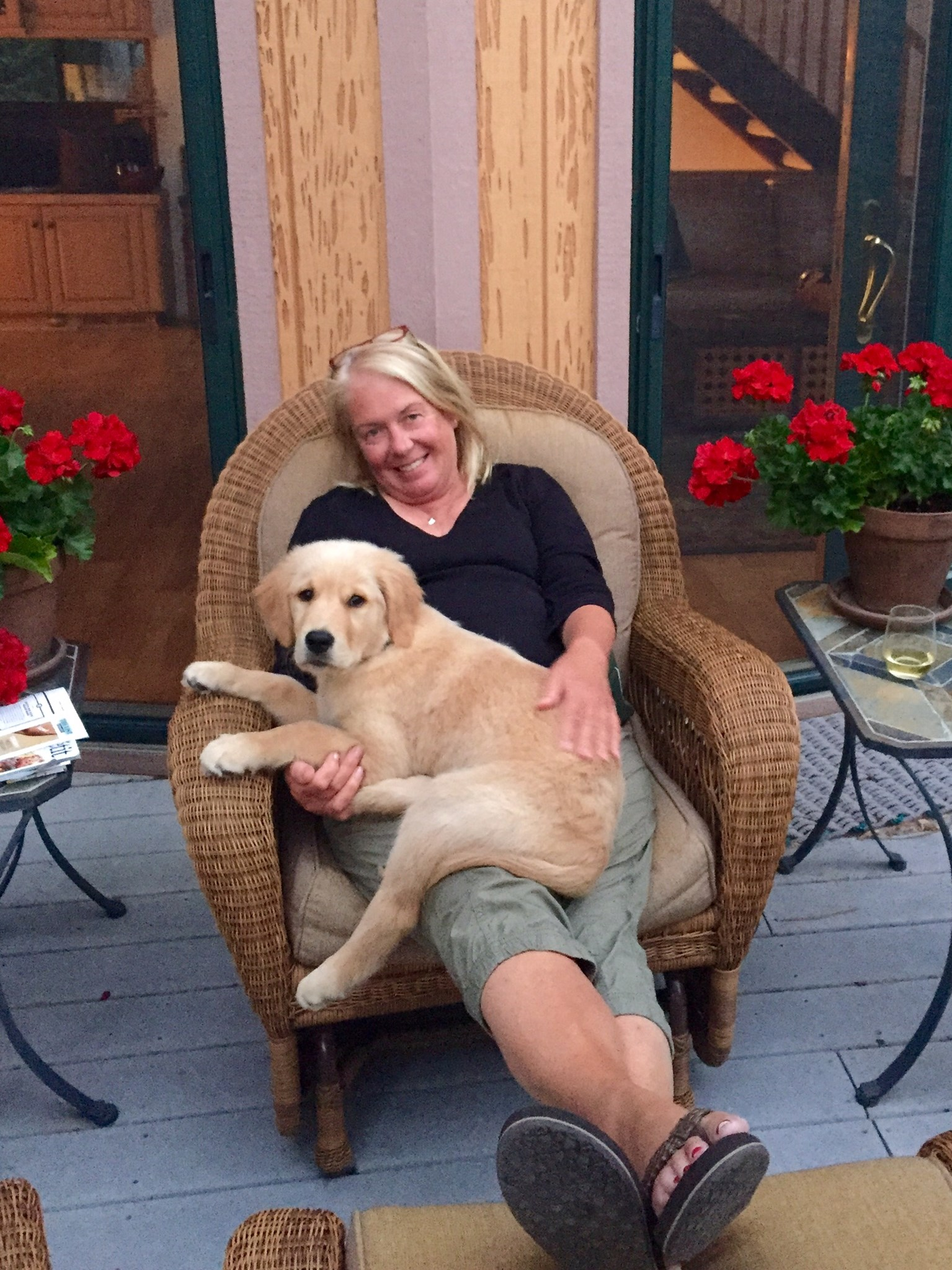 Lori & Her Grand-doggy, Roux