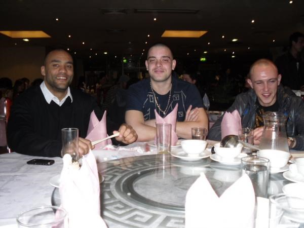 the guys out with us for you birthday meal. all missing u babes. xxx