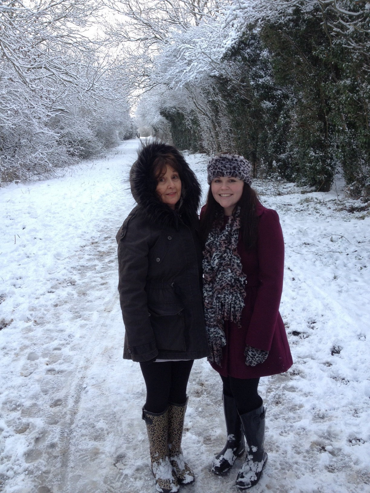 In the snow with Mum