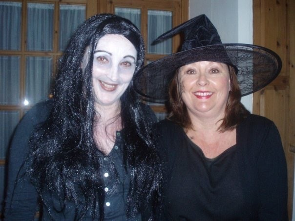 Bobs and Mum as witches