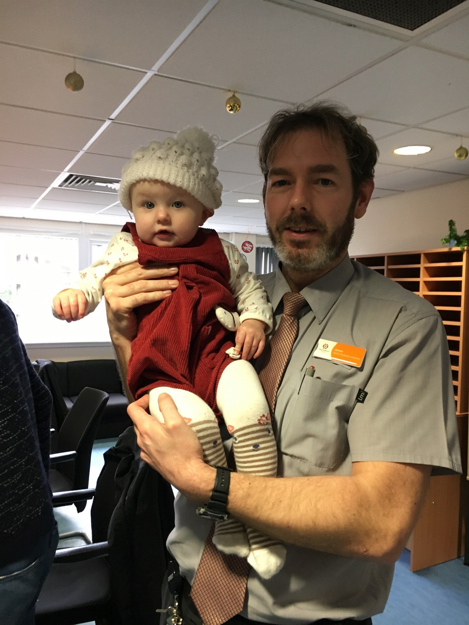 James and my Daughter Eleanor at 11 months