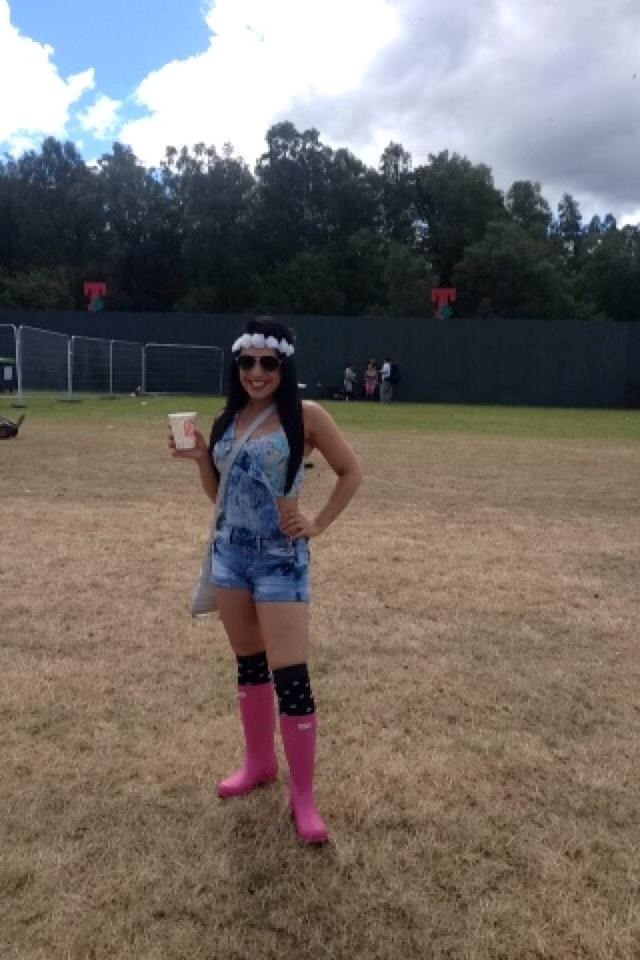 Lydia being her jolly self at T in the Park xx