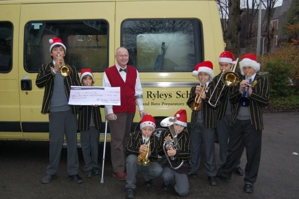 December, 2009 - The Ryleys Brass Band collecting money for Christies