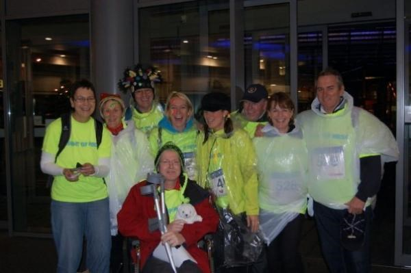 The Christies Night of Neon Walk 2009 - you were there & always smiling, despite the pain. xxxxxx