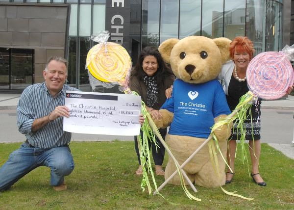 Annette & Colin presenting the cheque from the Lollipop Fashion Show - great success!!!xxxx