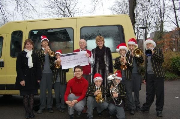 December 2009 - The Ryleys Brass Band - raising funds for the Christie - with lots of love xxxxx
